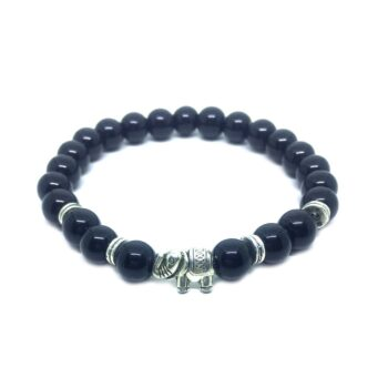 Elephant Natural Black Tourmaline Bracelet