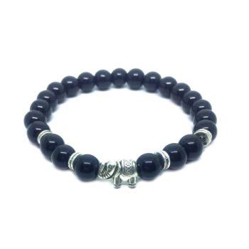 Elephant Natural Black Tourmaline Bracelet