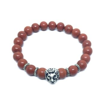 Lion Natural Jasper Bead Bracelet