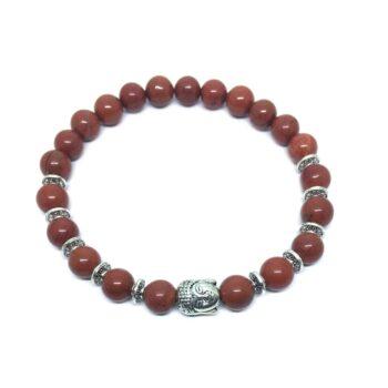 Buddha Natural Jasper Bead Bracelet