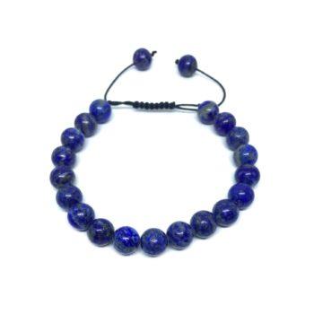 Natural Lapis Lazuli Braided Bead Bracelet