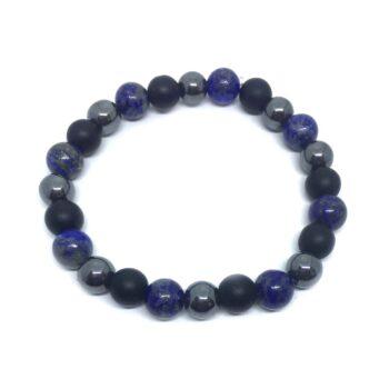 Braided Natural Lapis Lazuli Bead Bracelet