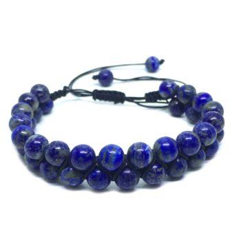 Braided Bead Lapis Lazuli Bracelet