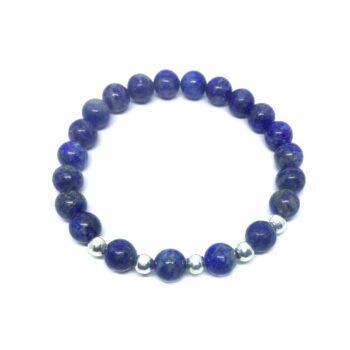 Natural Lapis Lazuli Bead Bracelet