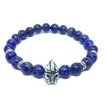 Helmet Natural Lapis Lazuli Bead Bracelet