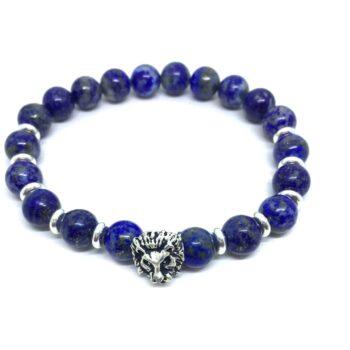 Lion Natural Lapis Lazuli Bead Bracelet