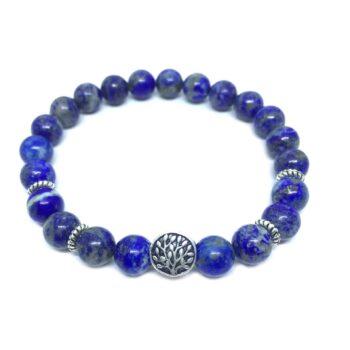 Tree Bead Natural Lapis Lazuli Bracelet