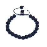 Natural Lava Braided Bead Bracelet