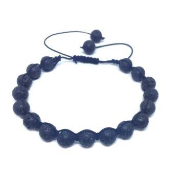 Braided Natural Lava Bead Bracelet