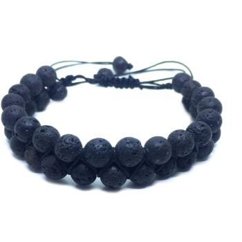 Braided Bead Lava Bracelet