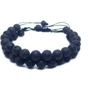 Braided Bead Lava Bracelet