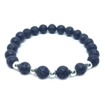 Natural Lava Bead Bracelet
