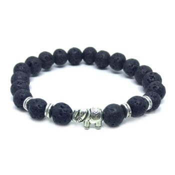 Elephant Natural Lava Bracelet