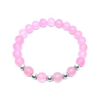 Natural Rose Quartz Stretch Bracelet