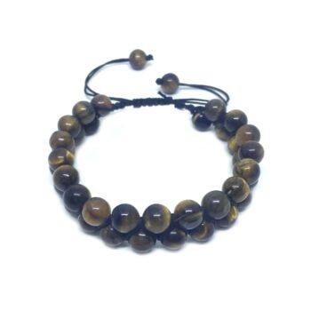 Braided Bead Tiger Eye Bracelet