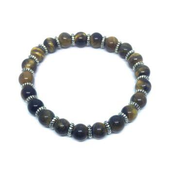 Natural Tiger Eye Bead Bracelet