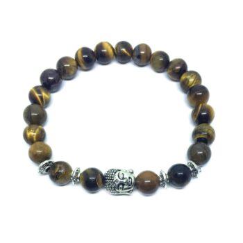Buddha Natural Tiger Eye Bead Bracelet