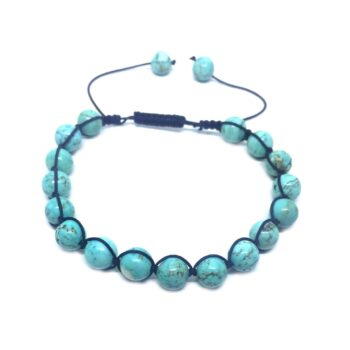 Braided Natural Turquoise Bead Bracelet