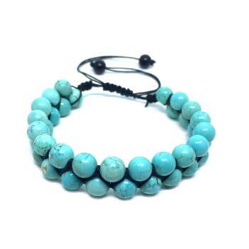 Braided Bead Turquoise Bracelet