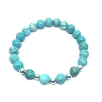 Natural Turquoise Bead Bracelet