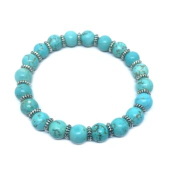 Natural Turquoise Stretch Bracelet