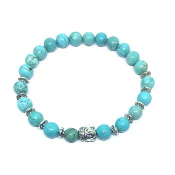Buddha Natural Turquoise Bead Bracelet
