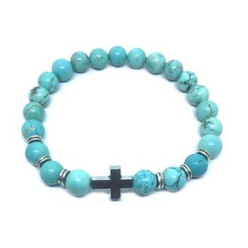Cross Natural Turquoise Bracelet