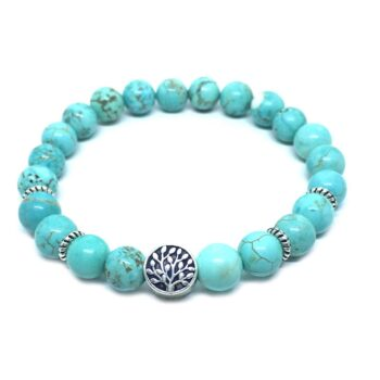 Tree Bead Natural Turquoise Bracelet
