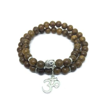 OM Buddha Wooden Bracelet