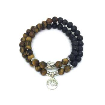 Lotus Buddha Wooden Bracelet