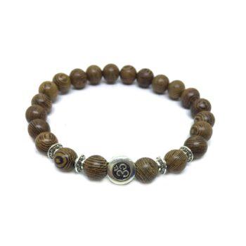 Aum Wooden Bracelet
