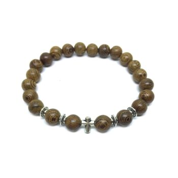 Cross Wooden Bracelet
