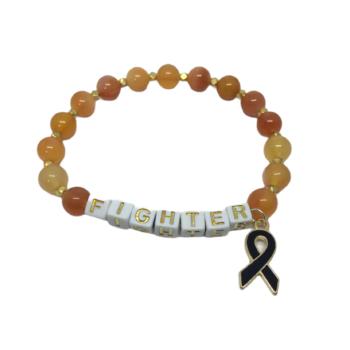 Natural Citrine Bead FIGHTER Awareness Bracelet