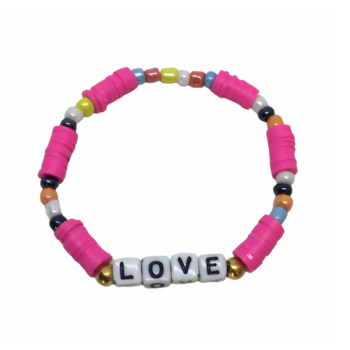 LOVE Heishi Bracelet