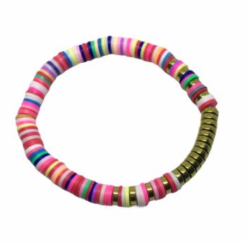 Multicolor Heishi Bead Bracelet