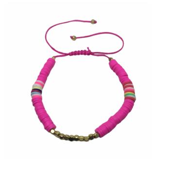 Adjustable Heishi Bracelet