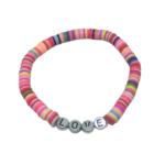 LOVE Heishi Stretch Bracelet