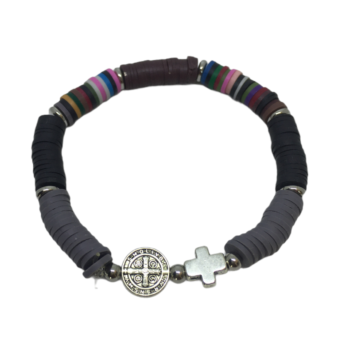 Cross Heishi Beads Bracelet