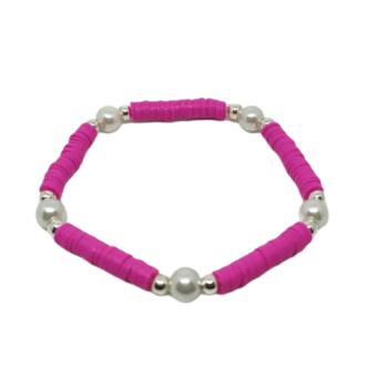 Pearl Heishi Stretch Bracelet